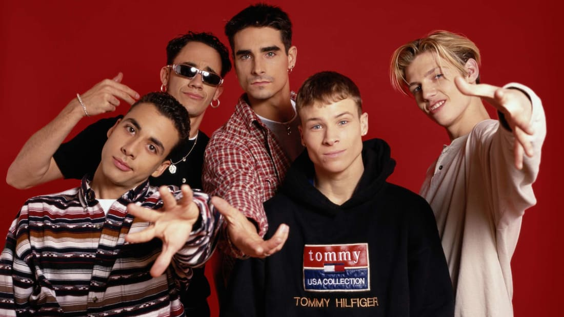 The Backstreet Boys—Brian Littrell, Nick Carter, A. J. McLean, Howie Dorough, and Kevin Richardson—photographed in 1995.