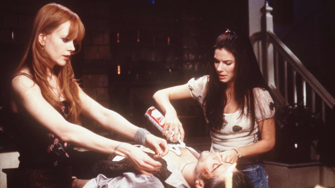 Nicole Kidman and Sandra Bullock star in Practical Magic (1998).