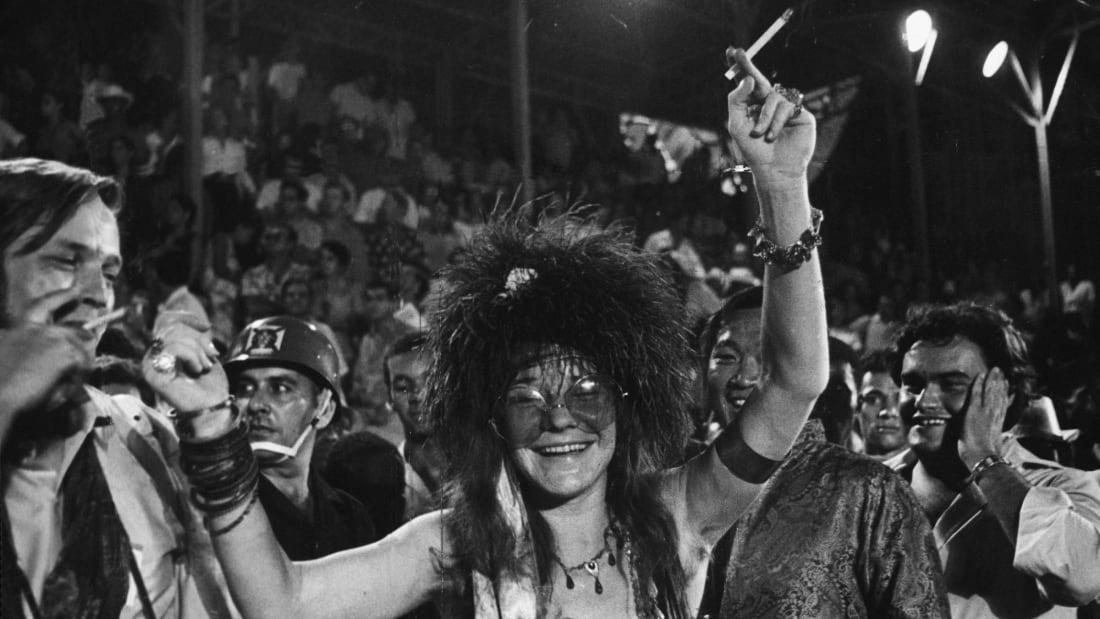 Janis Joplin in Brazil in 1970.