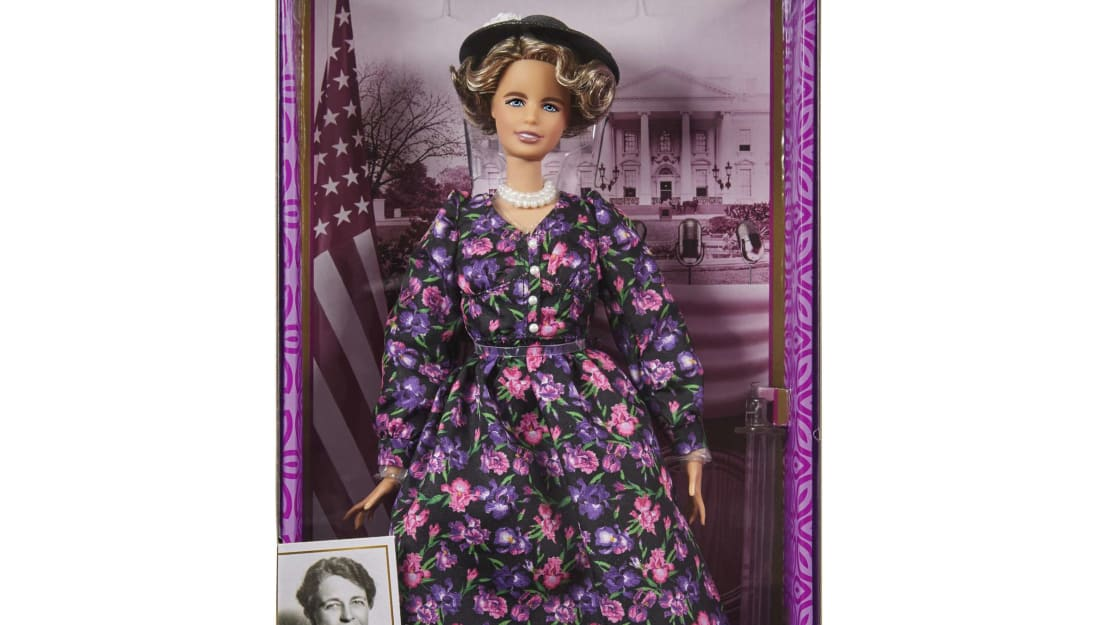 Eleanor Roosevelt's Barbie likeness.