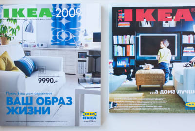 The 2009 and 2011 issues of the IKEA catalog.