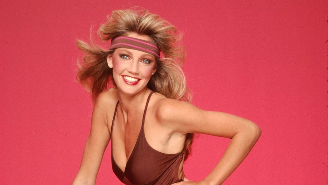 1980s icon Heather Locklear poses for a fashion shoot in Los Angeles in 1981.