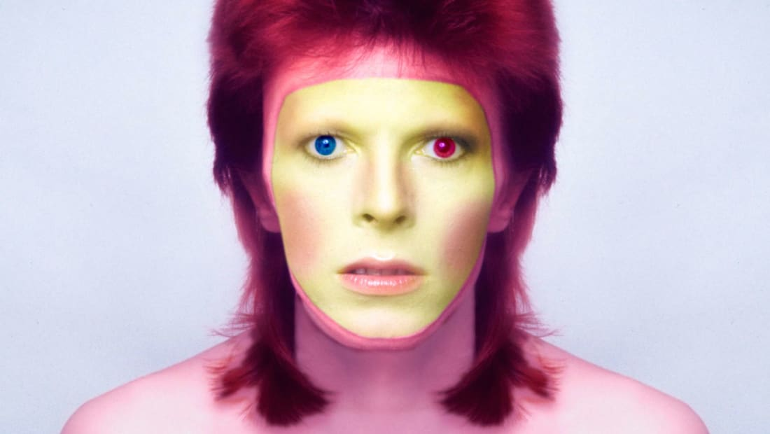 David Bowie, a.k.a. Ziggy Stardust, poses for the cover of his 'Pin Ups' album in 1973.
