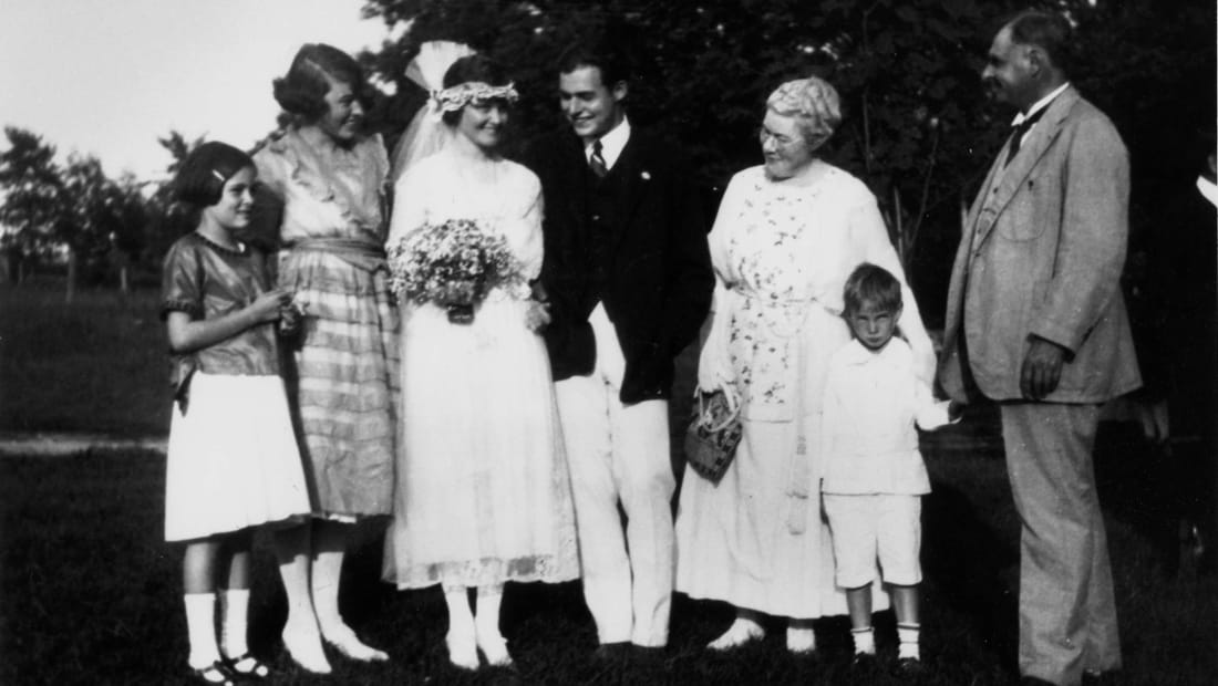 Ernest Hemingway and his first wife, Hadley, on their wedding day in September 1921.