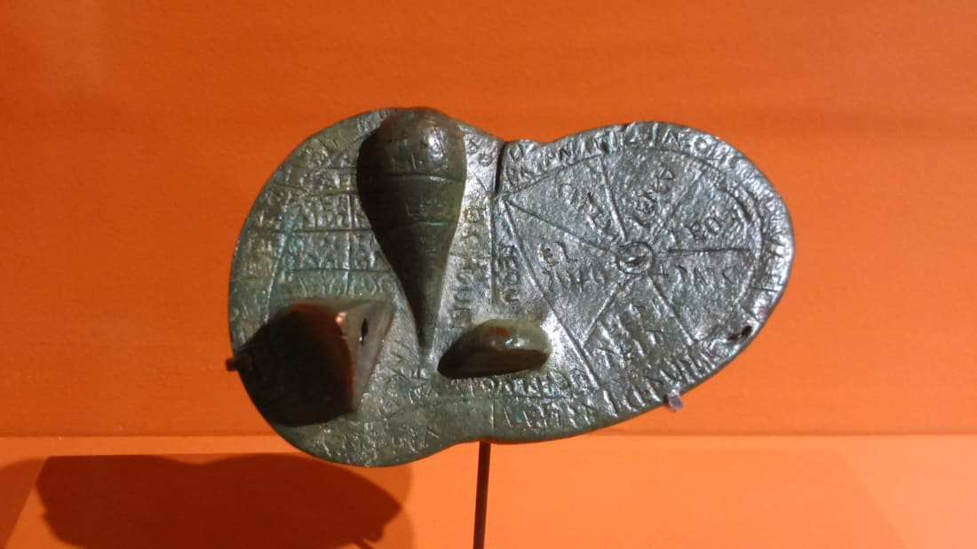 The Liver of Piacenza, a model of a sheep's liver used in Etruscan divination and unearthed in Italy in 1877.