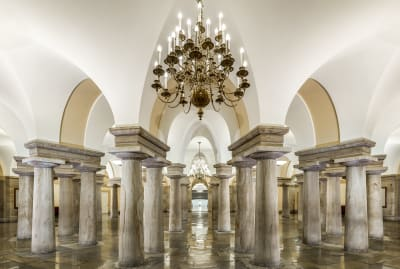 The U.S. Capitol Crypt in all its splendor.