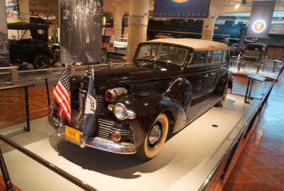 FDR's Lincoln K Sunshine Special at the now-closed Walter P. Chrysler Museum in Michigan.