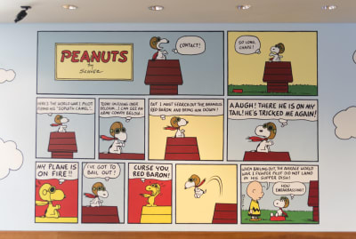 A Snoopy comic exhibition at the Charles M. Schulz Museum in Santa Rosa, California.