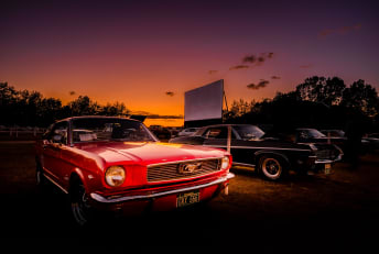 A scene from the Sunset Drive-In in Colchester, Vermont.