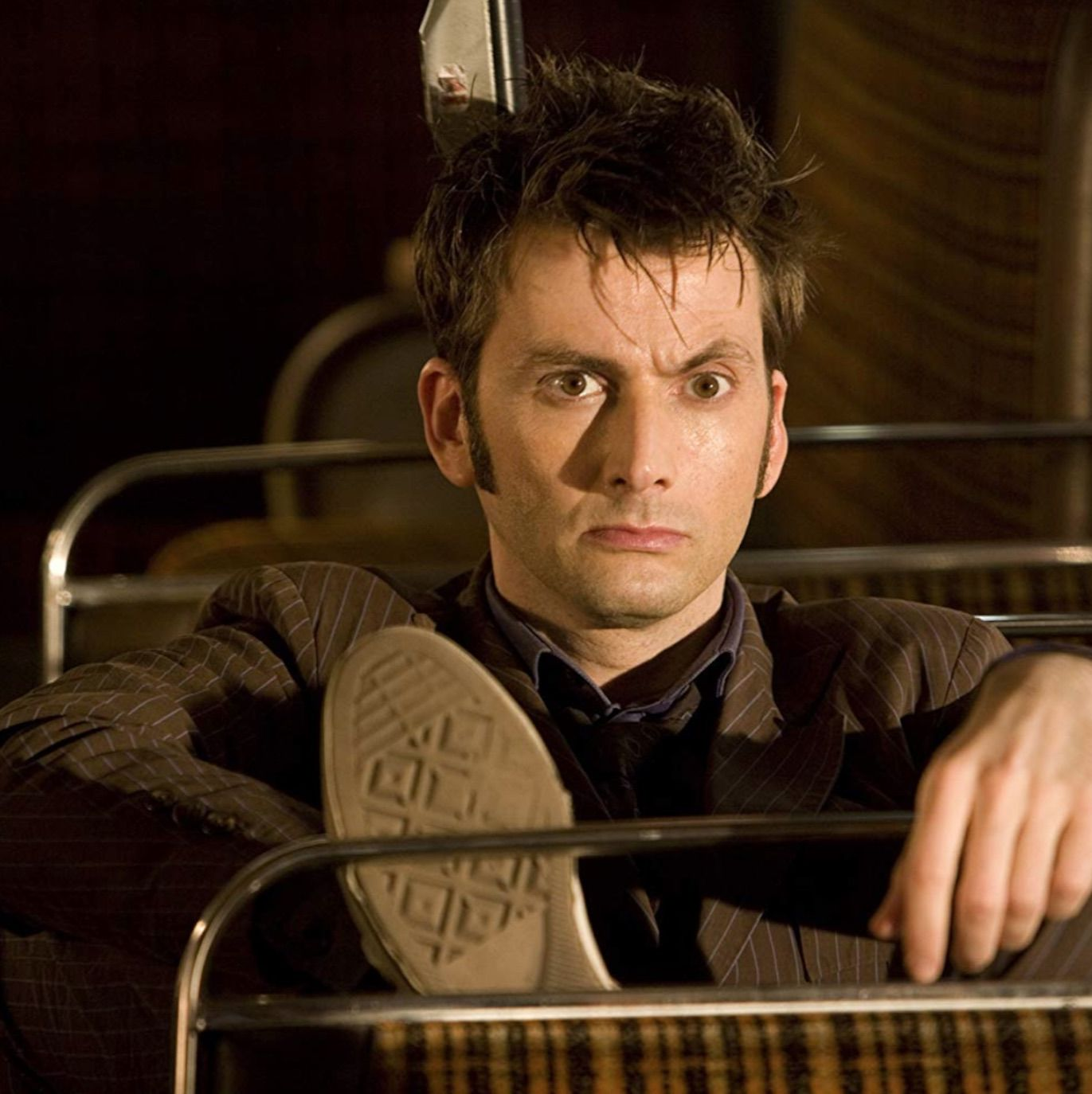 David Tennant—and his beloved Converse sneakers—as Doctor Who's Tenth Doctor.