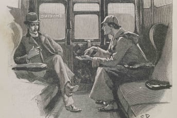 An 1892 drawing of Sherlock Holmes and Doctor Watson, published in The Strand Magazine