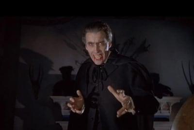 Christopher Lee in Horror of Dracula (1958).