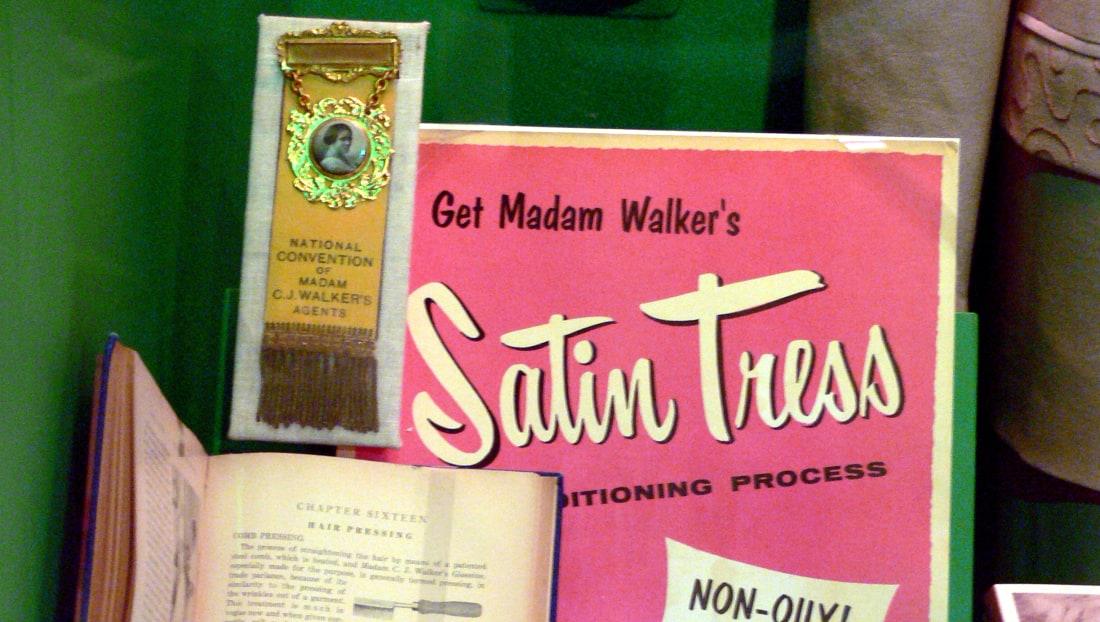 Madam C.J. Walker items at The Women's Museum in Dallas, Texas