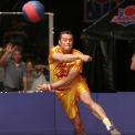 Vince Vaughn stars in Dodgeball: A True Underdog Story (2004).