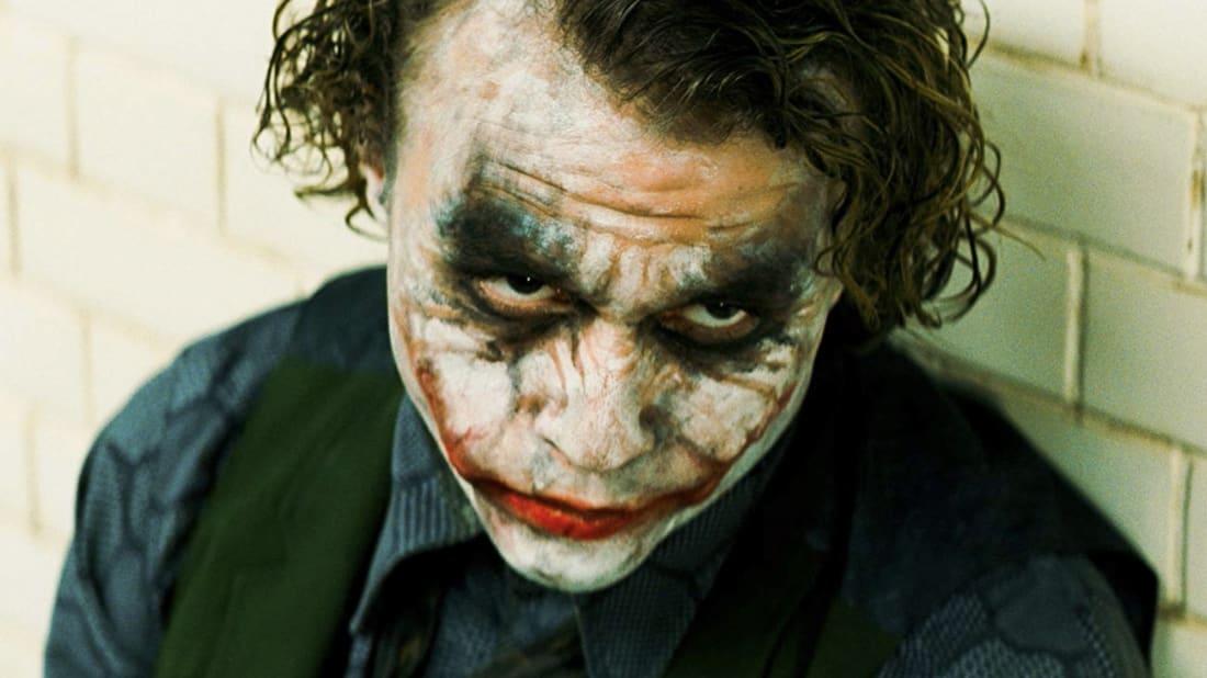 Heath Ledger as the Joker in Christopher Nolan's The Dark Knight (2008)