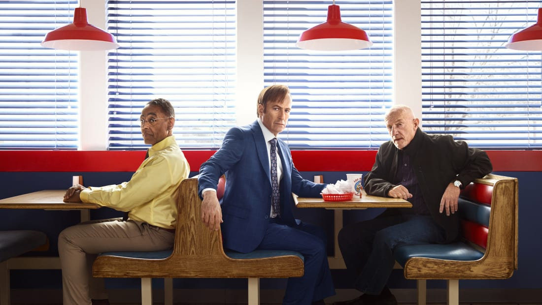 Giancarlo Esposito, Bob Odenkirk, and Jonathan Banks reunite in Better Call Saul.