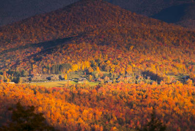 Stowe, Vermont, being incredibly extra.
