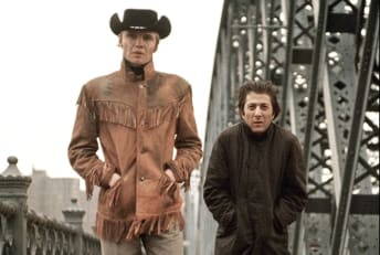 Jon Voight and Dustin Hoffman in Midnight Cowboy (1969)