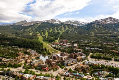 Aerial view of Breckenridge, Colorado.