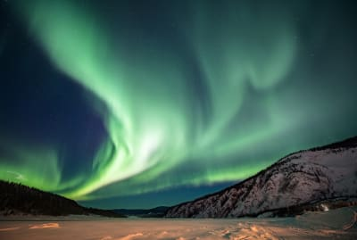 The northern lights in northwest Canada.