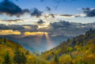 Sunrise in the Smoky Mountains National Park