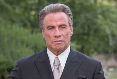 John Travolta in Gotti (2018).