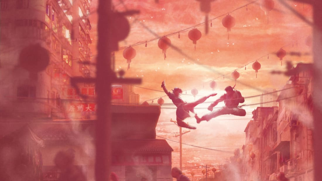 "Orioto's piece ""Chinese Street"" based off the ""Street Fighter"" video game franchise"