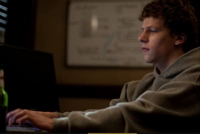 Jesse Eisenberg stars in David Fincher's The Social Network (2010).