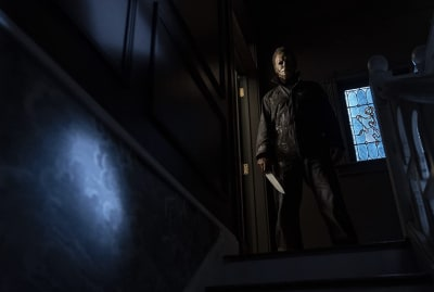 James Jude Courtney stars in Halloween Kills (2021).