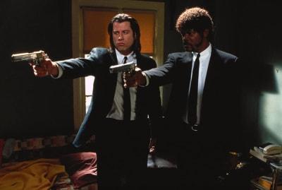 John Travolta and Samuel L. Jackson in Pulp Fiction (1994).