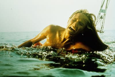 Susan Backlinie in Jaws (1975).