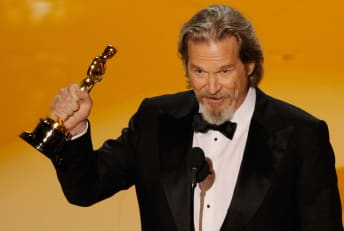 Jeff Bridges accepts the Best Actor Oscar for Crazy Heart during the 82nd Annual Academy Awards in 2010.