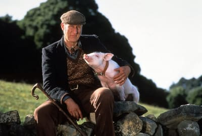 James Cromwell in Babe (1995).