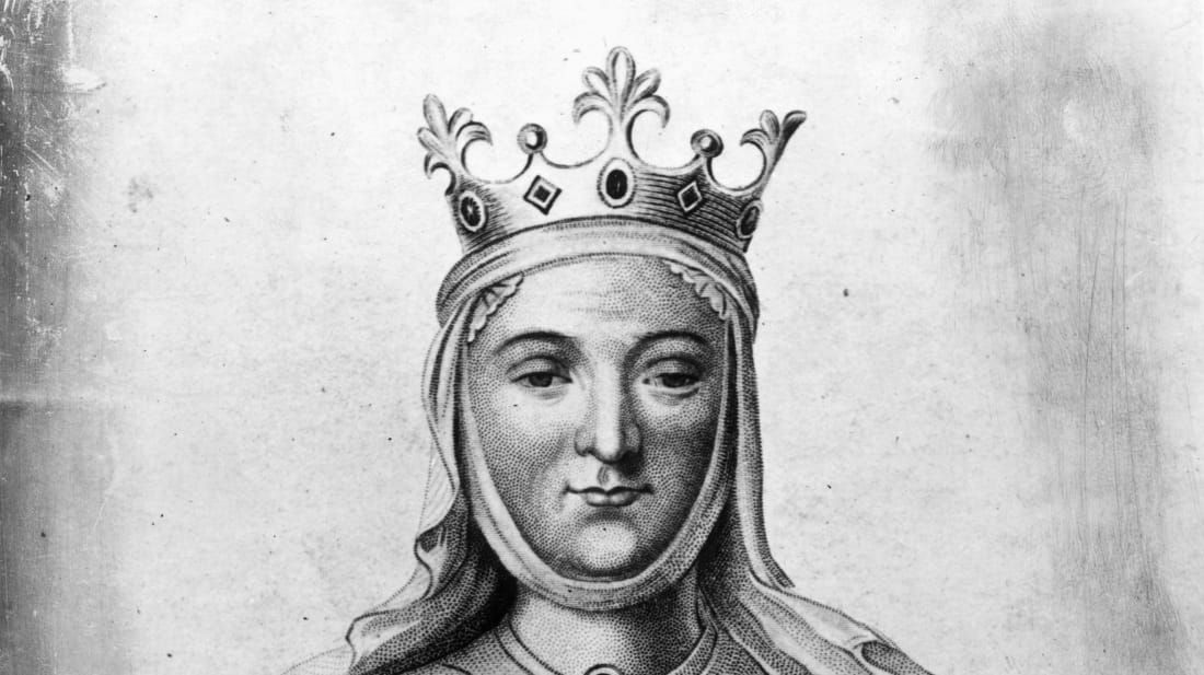 A drawing of what Eleanor of Aquitaine might have looked like circa 1150
