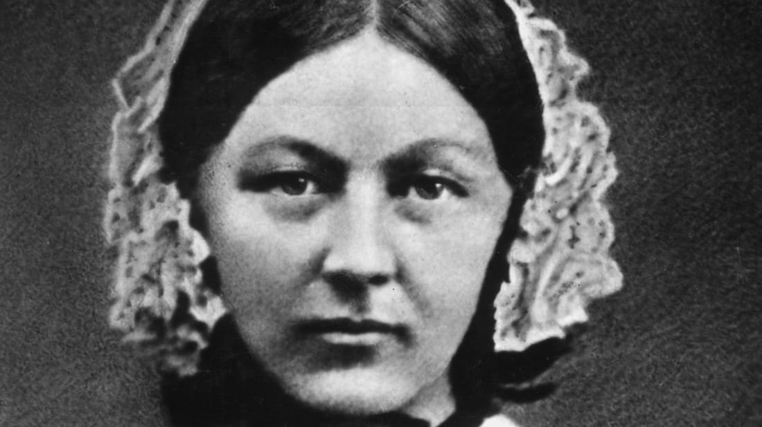 A photo of Florence Nightingale, circa 1845.