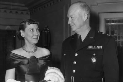 Dwight and Mamie Eisenhower photographed in 1957.