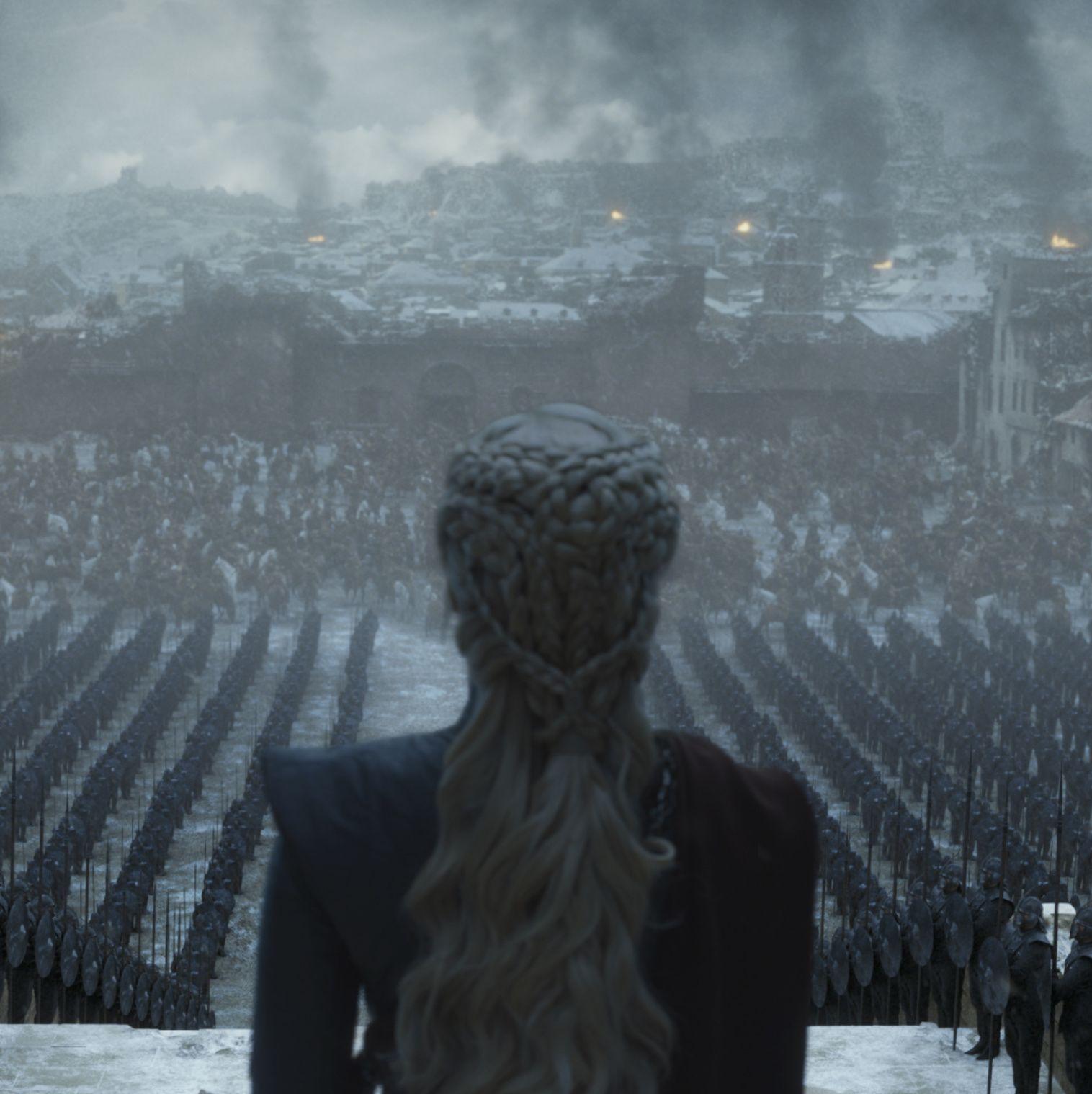 Emilia Clarke stars as Daenerys Targaryen in a scene from Game of Thrones's series finale