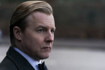 Samuel West portrays Anthony Blunt in The Crown.