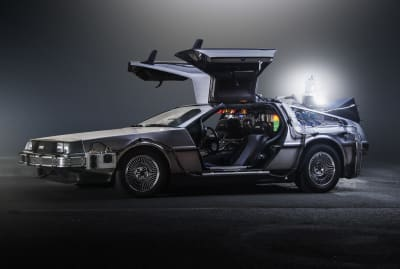 Doc Brown's DeLorean time machine from the Back to the Future movies.