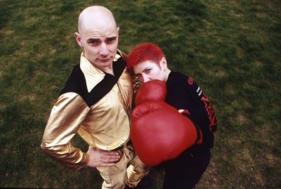 Chumbawamba's Danbert Nobacon and June Abbott in 1992.
