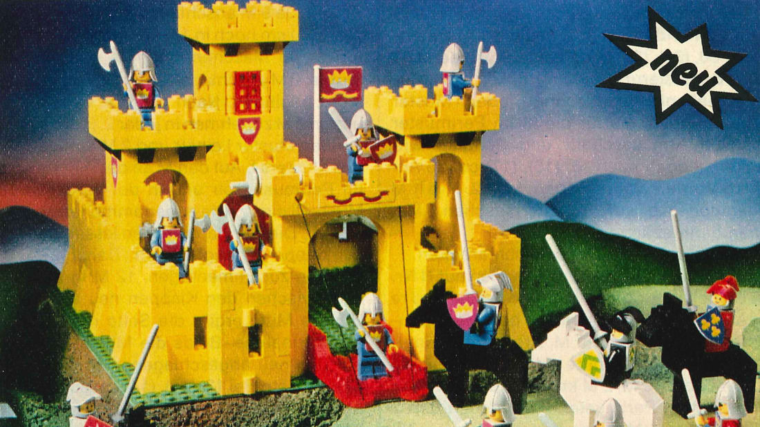 A LEGO ad for the new knight minifigures from 1978
