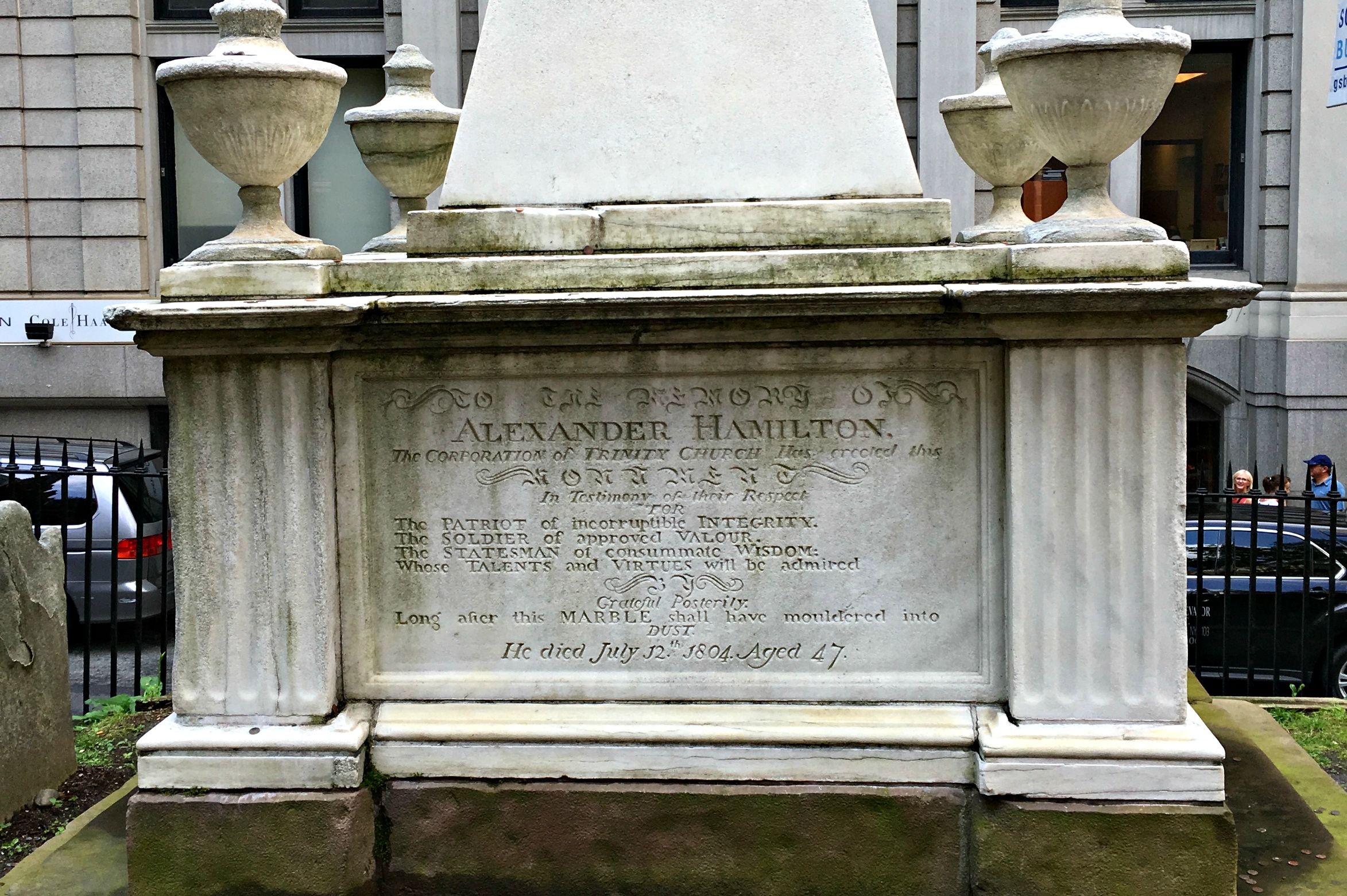 Grave Sightings Alexander Hamilton Mental Floss