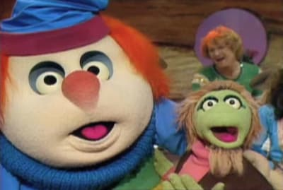 Tubby Baxter and Gary Gnu in The Great Space Coaster.