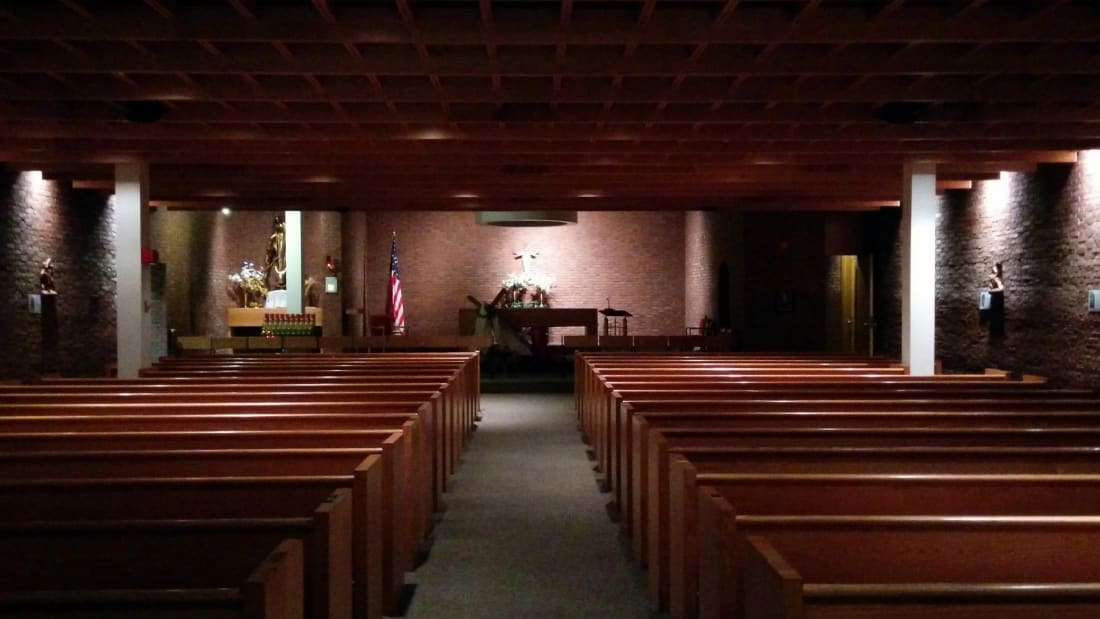 Inside Our Lady of the Airways Chapel at Boston Logan International Airport