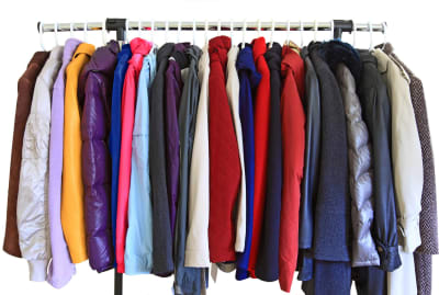 Coats and jackets living together in harmony.