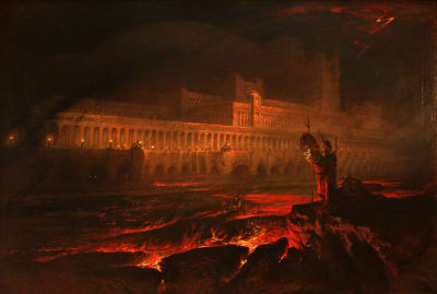 A 19th-century painting of Paradise Lost's Pandemonium by John Martin.