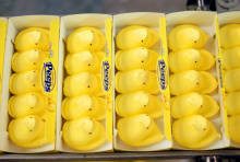 Peeps are all out of cluck when it comes to confectionery popularity contests.