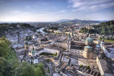 Aerial view of Salzburg, Austria.