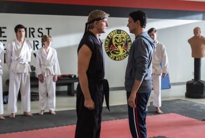 William Zabka and Ralph Macchio reunite in Cobra Kai.