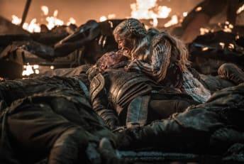 Iain Glen and Emilia Clarke in Game of Thrones.